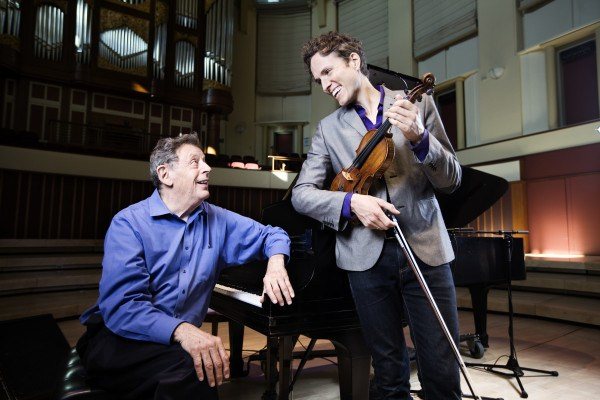 Philip Glass & Tim Fain Promotional Images at Emory University.